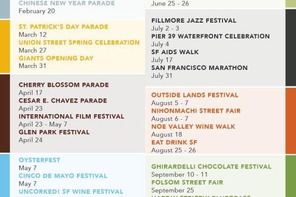2016 Event Calendar | SF