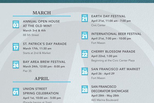 SF Spring Events Calendar