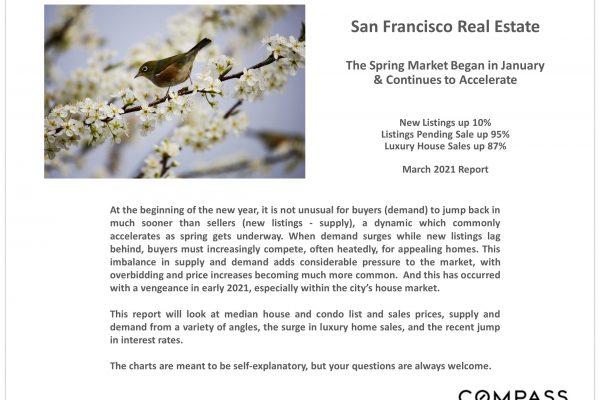 San Francisco Real Estate Market Accelerates March 2021 Report