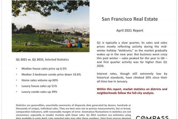San Francisco Real Estate Prices & Market Conditions April 2021
